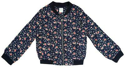 Girls Ditsy Floral Zipper Fashion Lightweight Bomber Jacket 5 to 13 Years