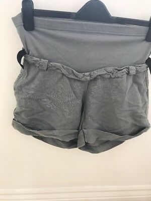 Maternity Grey Linen Shorts