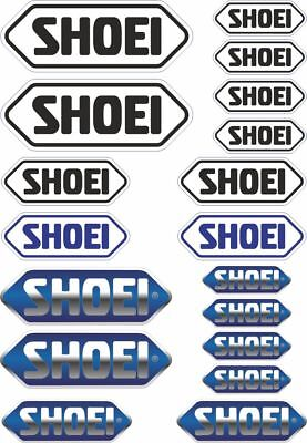 18x SHOEI Helmet Decals Stickers Moto Motorcycle Sponsor Sticker Sheet Adhesive