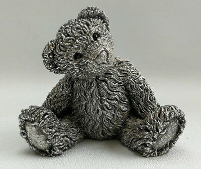 Vintage 1996 Country Artists Large Solid Sterling Silver Teddy Bear