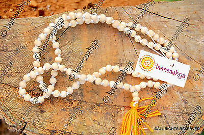 8mm TULSI TULASI JAPA MALA ROSARY 108 + 1 BEAD PRAYER NECKLACE PREMIUM QUALITY
