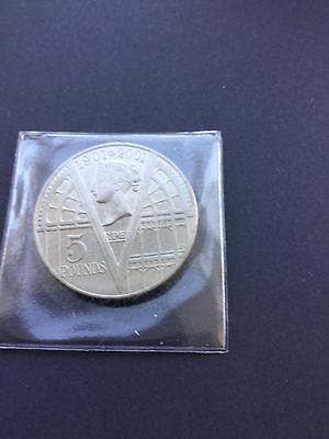 Gb 2001 £5 Commemorative Coin Celebrating 100Yrs Since Passing Of Queen Victoria