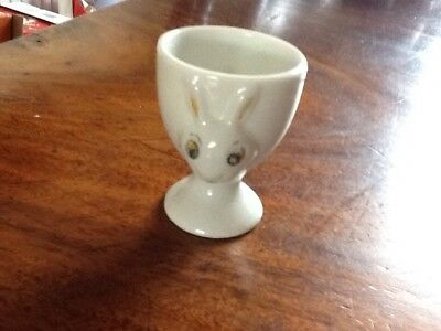 Vintage White Rabbit Alice In Wonderland Eggcup