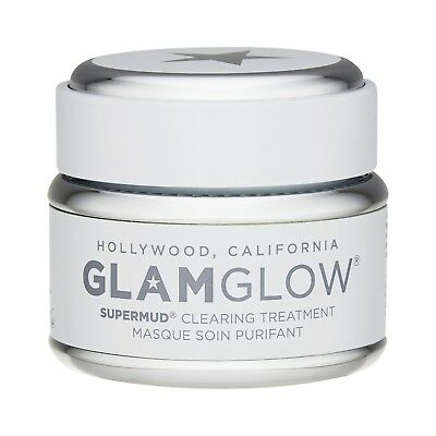 GlamGlow Supermud Clearing Treatment 50g Skincare Mask Deep Cleansing Pores