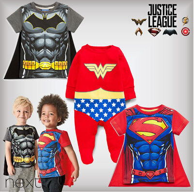 SALE NEXT Superhero Comic Baby Boys Girls T-Shirt Sleepsuit 0-1-3-6-9-12 Months