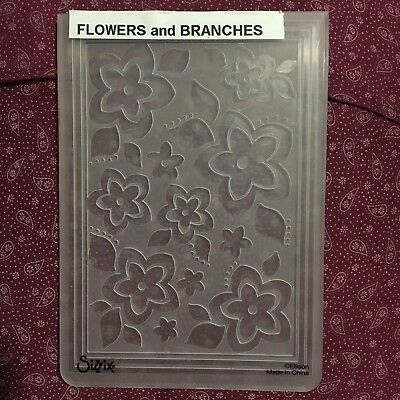 Embossing Folder Flowers Sizzix Cuttlebug