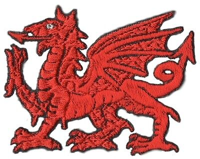 Welsh Wales Red Dragon Iron on National Embroidered Patch/Badge*