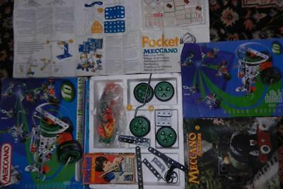Meccano Motion System Set and Pocket meccano, aprox 300 parts, book and Magazine