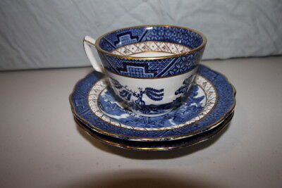 Real Old Willow- Pottery,Glass, Porcelain - Tea Cup & Saucer - Blue willow