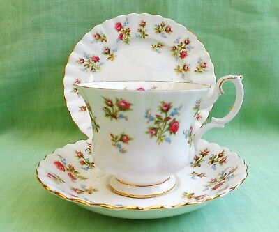 Royal Albert Winsome bone china cup saucer & plate trio
