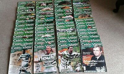 celtic magazine celtic view 50 issues august 1999 to september 2000