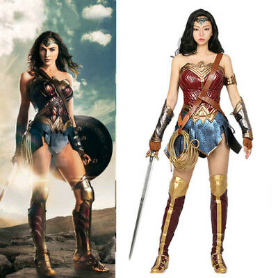 Xcoser Deluxe Wonder Magic Woman Costume Red & Blue Halloween Cosplay Costume