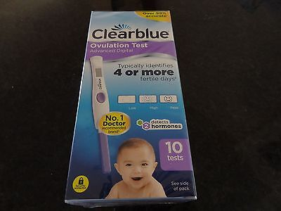 10 CLEARBLUE Advanced Digital Ovulation Test With Dual Hormone Indicator bnib