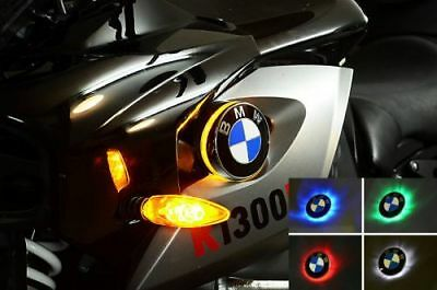 BMW K1300R BICOLOR LED INTERMITENTE CON EMBLEMA K 1300R : Verde/Amarillo
