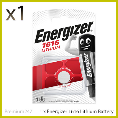 1 x Energizer 1616 Battery 3V Lithium Coin Cell CR1616 Battery DL1616 BR1616
