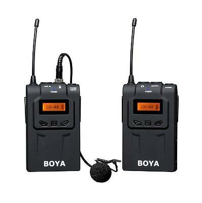 BOYA BY-WM6 UHF Wireless Lavalier Microphone Recorder for ENG/EFP DSLR/Cam/Gopro