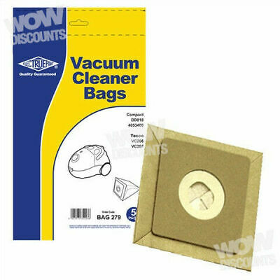 Dust Bags For Tesco VC206 Vacuum Cleaners Pack Of 20