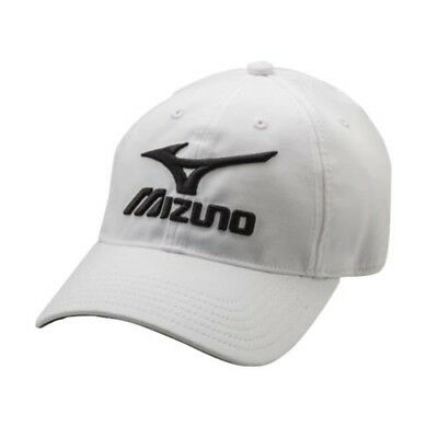 (White/Black) - Mizuno Low Profile Adjustable Hat. Shipping is Free