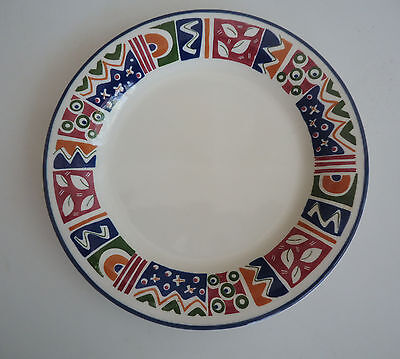 Staffordshire England 'Diablo' Replacement Side Plate *Bright Abstract Geometric