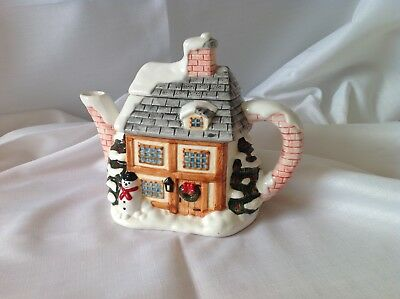 Christmas Ceramic Teapot designed by Annie Rowe