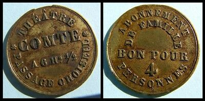 Magic token Comte Theatre - French Conjuror  ( 4 seats - Accents on E and A)