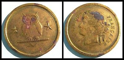 French magic token  Mayette ( Paris ) - Brass  variant