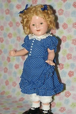 """SO PRETTY!! Vintage 17"""" Shirley Temple Composition Doll"""