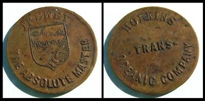 Magic token - 1894 - French conjuror Trewey - Trans Oceanic Company
