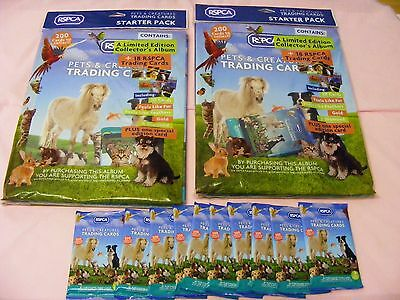 *RSPCA* - 10 SEALED PACKETS = 90 CARDS plus 2 x SEALED COLLECTOR ALBUMS +content