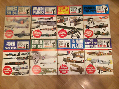Collection of 8 Purnell's HISTORY OF THE WORLD WARS SPECIAL Aircraft Magazines