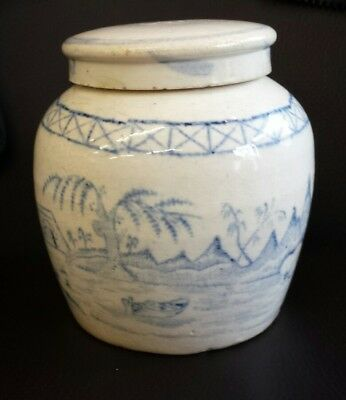 Antique Chinese / Japanese Lidded Ginger Jar