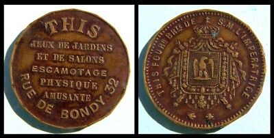 Old French Magic Token – THIS  - Rue de Bondy - Paris - ca 1860