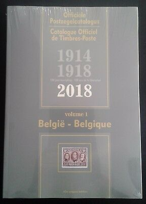 Belgique-België Catalogue officiel de timbres Poste 2018, emballé, TB