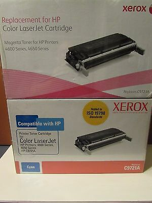New Xerox Compatible C9721A  C9723A Cyan and Magenta Toner Cartridges
