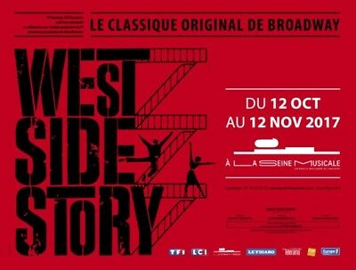 2 Places Categorie 1 - West Side Story - Seine Musicale - 29 Oct 15H