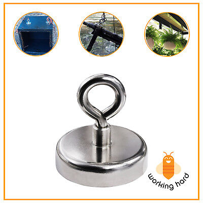 FISHING MAGNET 255 LB Super Strong Neodymium Round Thick Eyebolt Treasure Hunt