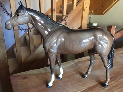 Extra Large Beswick Brown Gloss Horse