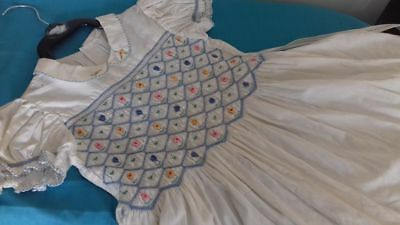 vintage girls dress age 18 month 2years smocked cotton