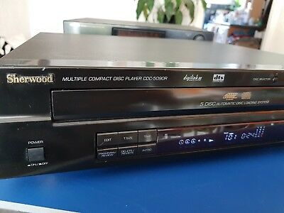 Used, Sherwood Cdc-5090R Dts 5 Cd Player  Changer Perfect Working.