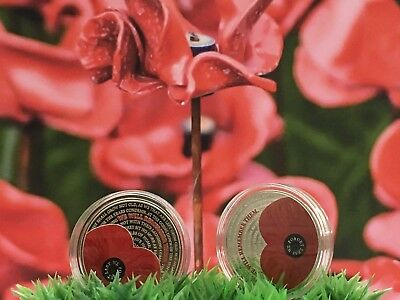 NEW 2017 Remembrance Day £5 Poppy Coin.With Capsule +Wallet.Limited Edition.