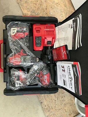 Milwaukee 4933459399 18v 2x5ah Li-ion M18 ONE-KEY Drill and Impact Wrench Twin K