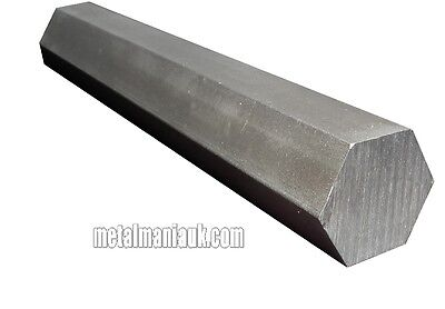 "Bright steel Hex Bar EN1A spec 0.525"" AF x 500mm hexagon bar"