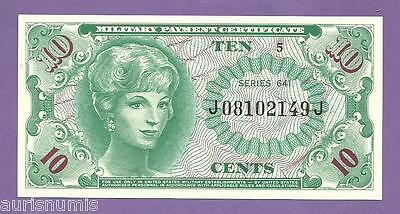 [AN] USA Military Payment 10 Cents 1965 P M58 Serie 641 UNC
