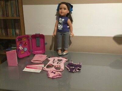 Design A Friend Doll Allready For Holidays With Suitcase ,Passport , Clothes Etc