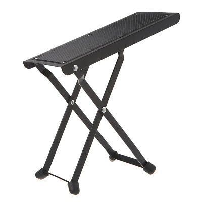 Folding Metal Guitar Foot Rest Stage Anti-slip Stand 4-Position for Guitarist