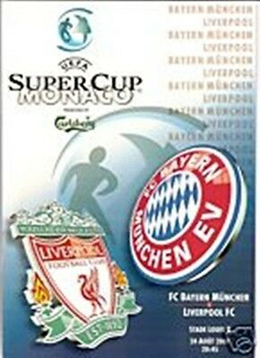BAYERN MUNICH v LIVERPOOL UEFA SUPER CUP FINAL 2001