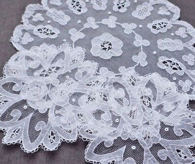 "True CARRICKMACROSS LACE 3 Round Doilies: Larger (about 9.5""), 2 Coasters (5.5"")"