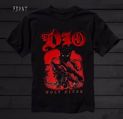 DIO-Holy Diver- American heavy metal band ,BLACK  T-shirt-SIZES: S to 7XL