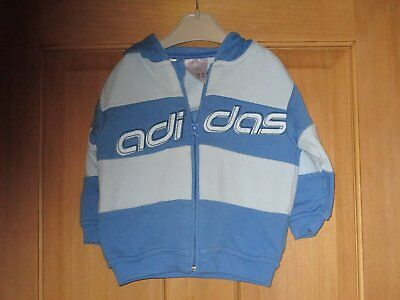 Baby Boys Addidas Hooded Top Age 9-12 Months