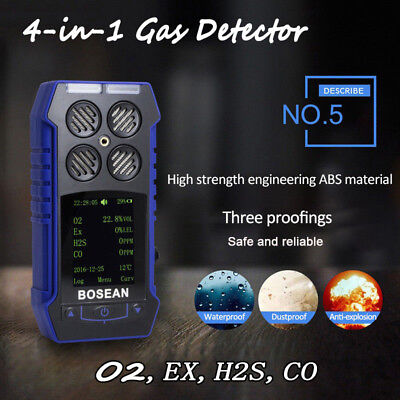 4-in-1 Compact Toxic Harmful Gas Monitor Detector Combustible Gas Alert Alarm